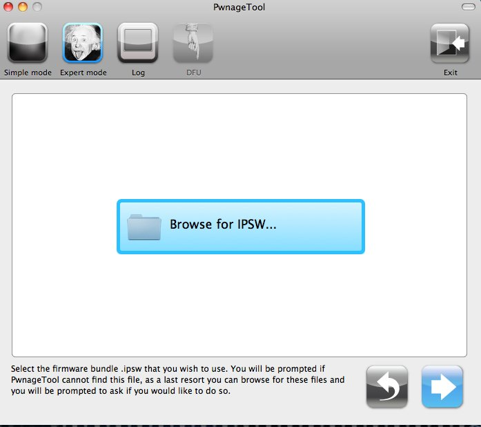 pwnage browse for ipsw